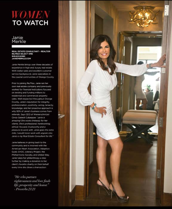 Janie Merkle - Real Estate Consultant - Women to Watch